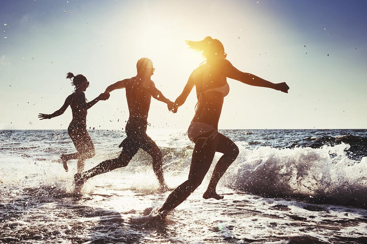 Playa del Carmen con amigos